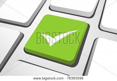 Computer Key : Check mark
