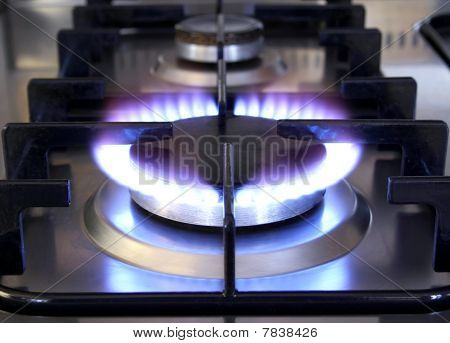 Gas Flame on Oven