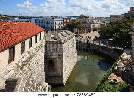 View of Havana from the castillo de la Real Fuerza.