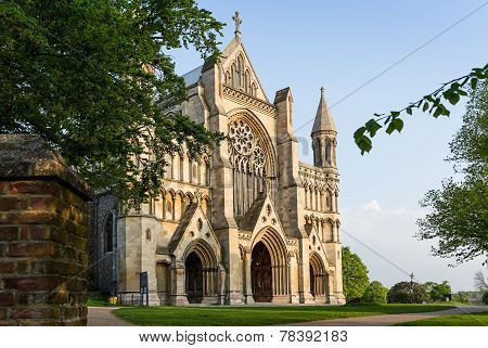Cathedral And Abbey Church Of Saint Alban In St.albans, Uk