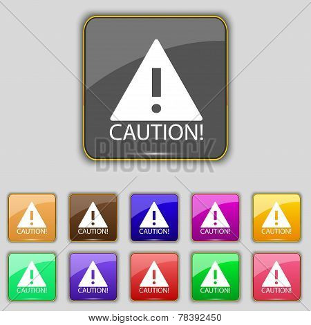 Attention Caution Sign Icon