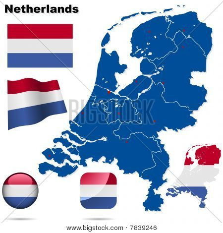 Netherlands vector set.