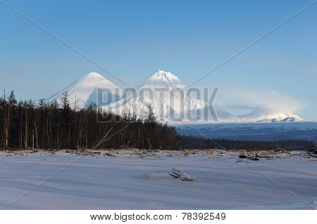 Beautiful Mountain Landscape Of Kamchatka Peninsula