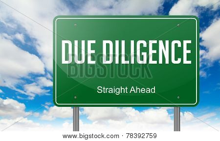 Due Diligence on Green Highway Signpost.