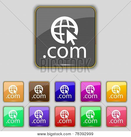 Domain Com Sign Icon