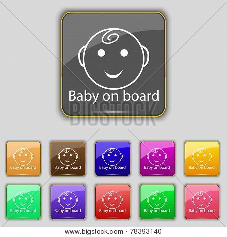 Baby On Board Sign Icon
