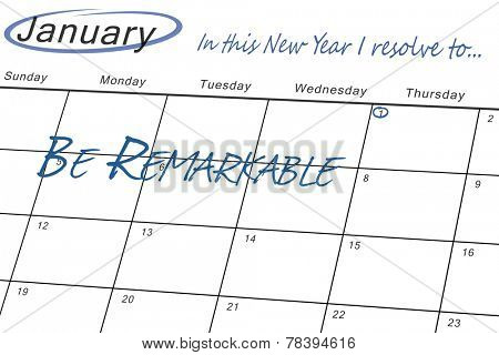 in this new year I resolve to against january calendar