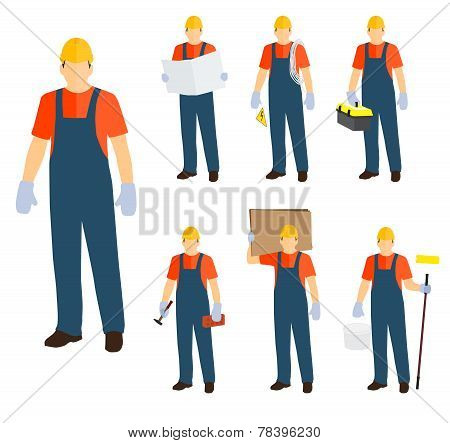 Workers Icons Vector Set