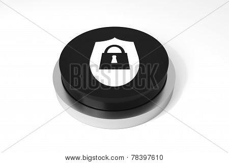 Black Button Security Symbol