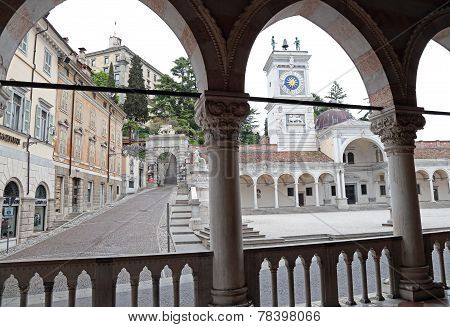 View Of Place Of Freedom From The Loggia, Udine, Italy