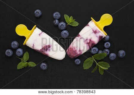 Colorful Fruit Ice Lolly Background. Popsicle.