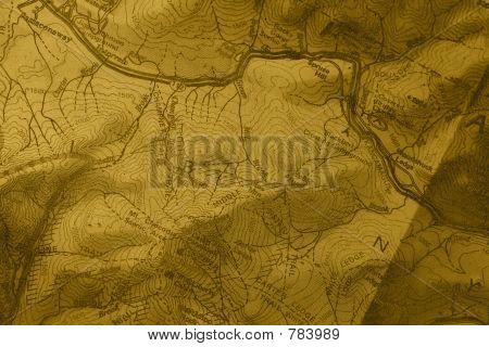 Old Grunge Map
