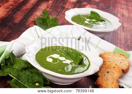 Delicious Spinach Soup.