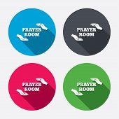 stock photo of priest  - Prayer room sign icon - JPG