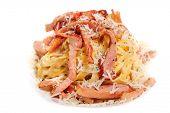 image of carbonara  - Pasta Carbonara with bacon and cheese - JPG
