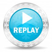 picture of christmas song  - replay icon - JPG
