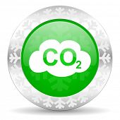 foto of carbon-dioxide  - carbon dioxide green icon - JPG