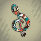 foto of clefs  - Colorful musical g - JPG
