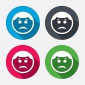 picture of sad  - Sad face sign icon - JPG