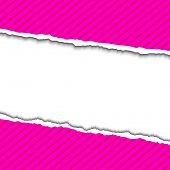 foto of cut torn paper  - Pink Torn paper background with space for your text - JPG