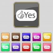 picture of yes  - Yes sign icon - JPG