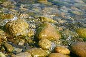 pic of h20  - Shallow water on coast of lake  - JPG