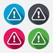 pic of hazard symbol  - Attention sign icon - JPG