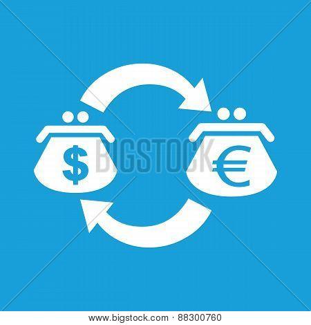 Dollar euro exchange white icon