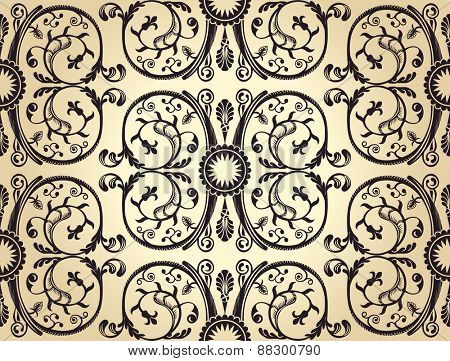 Seamless background pattern. vintage heraldic wallpaper old paper