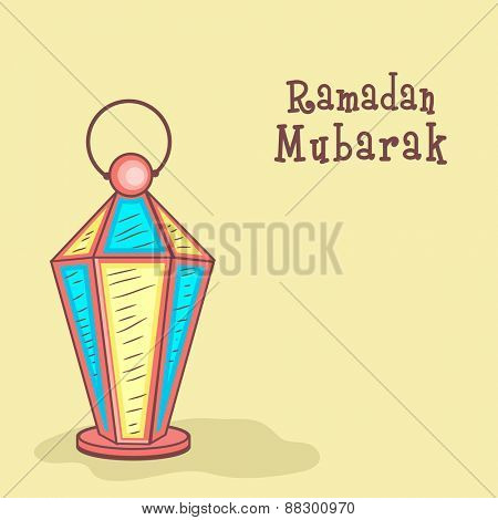 Colorful Arabic lantern for holy month of Muslim community Ramadan Kareem celebration.