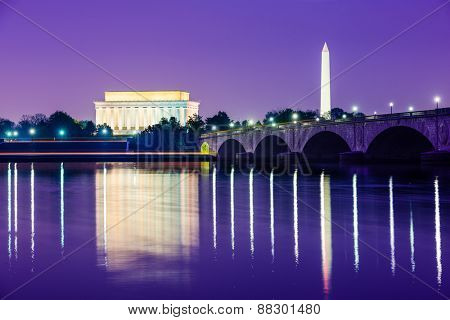 Washington, D.C. from across the Potomac River.