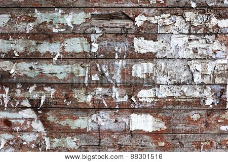 Background of stained dirty wood planks scratched
