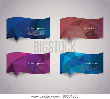 Abstract Geometric bubbles. Polygonal vector design.