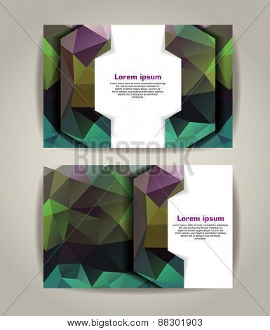Flyer, Brochure Design Templates. Geometric Triangular Abstract Modern Backgrounds.