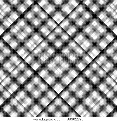 Seamless geometric checked diagonal texture. Vector art.