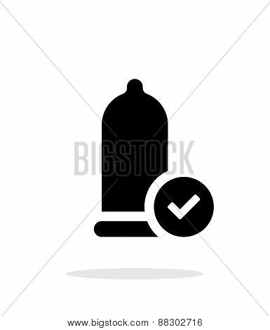 Condom Check icon on white background.