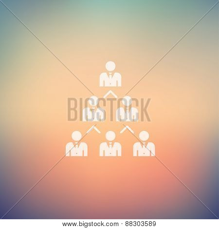 Networking business icon in flat style for web and mobile, modern minimalistic flat design. Vector white icon on gradient mesh background