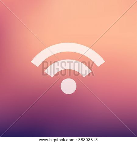 Wifi icon in flat style for web and mobile, modern minimalistic flat design. Vector white icon on gradient mesh background