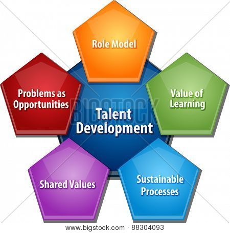 business strategy concept infographic diagram illustration of talent development approach