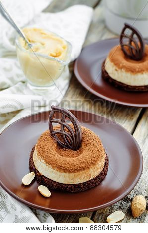 Chocolate Cake With Peanut Mousse