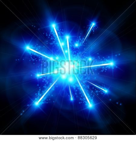 big bang blue matter - vector technology illustration / eps10