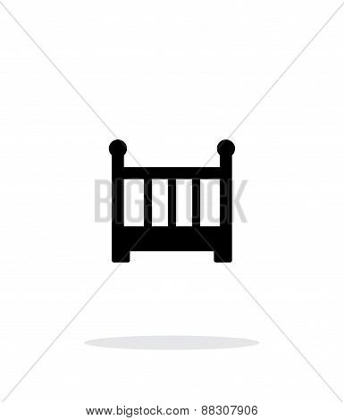 Crib simple icon on white background.