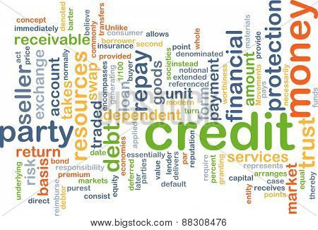 Background text pattern concept wordcloud illustration of financial credit