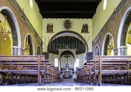 Church internal view. Color image