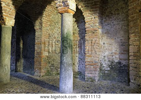 Ancient medieval church. Color image