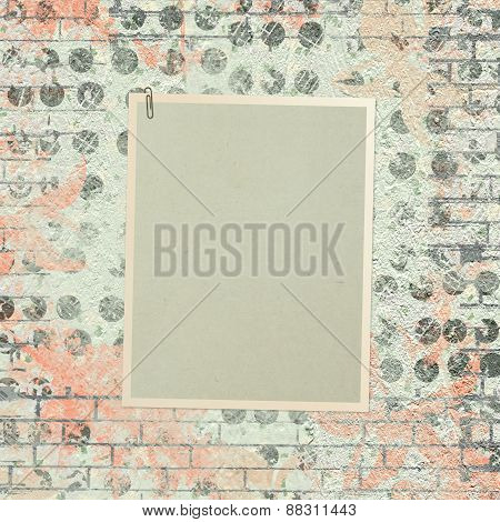 Abstract Beautiful Background In The Style Of Mixed Media With Floral Ornament, Words And Figures