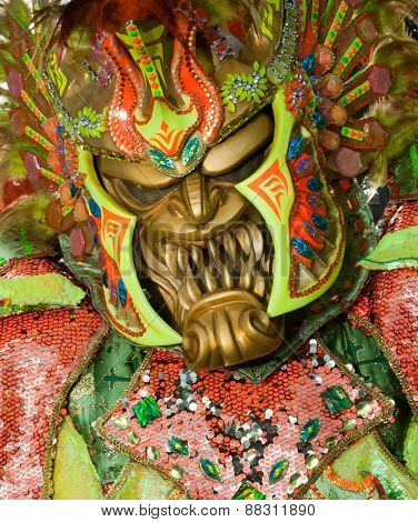 Monster Mask In Carnival Of Santo Domingo