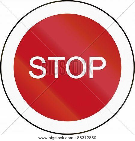 Stop Sign In Brunei