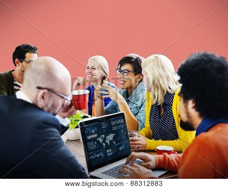 People Meeting Conference Technology Laptop Concept