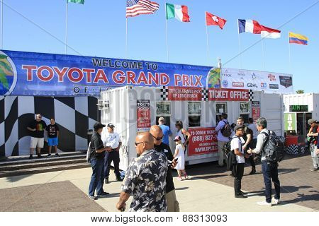 LONG BEACH - APR 18: General Atmosphere, Entrance at the Toyota Grand Prix Of Long Beach Pro/Celebrity Race - Race Day on April 18, 2015 in Long Beach, California